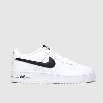 Nike White & Black Air Force 1 An20 Unisex Youth