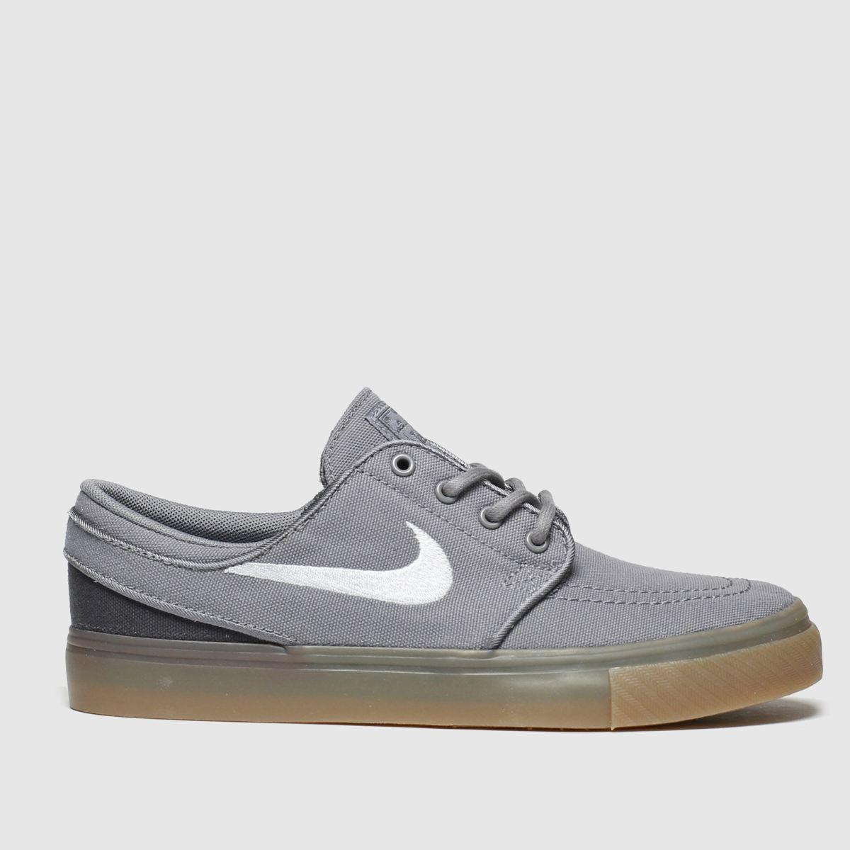Nike Sb Grey Stefan Janoski Trainers Youth