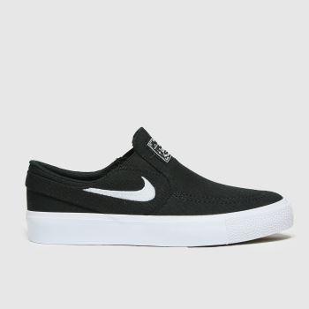 Nike SB Black & White Stefan Janoski Slip Unisex Youth