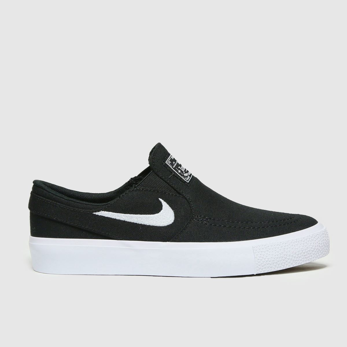 Nike SB Black & White Stefan Janoski Slip Trainers Youth