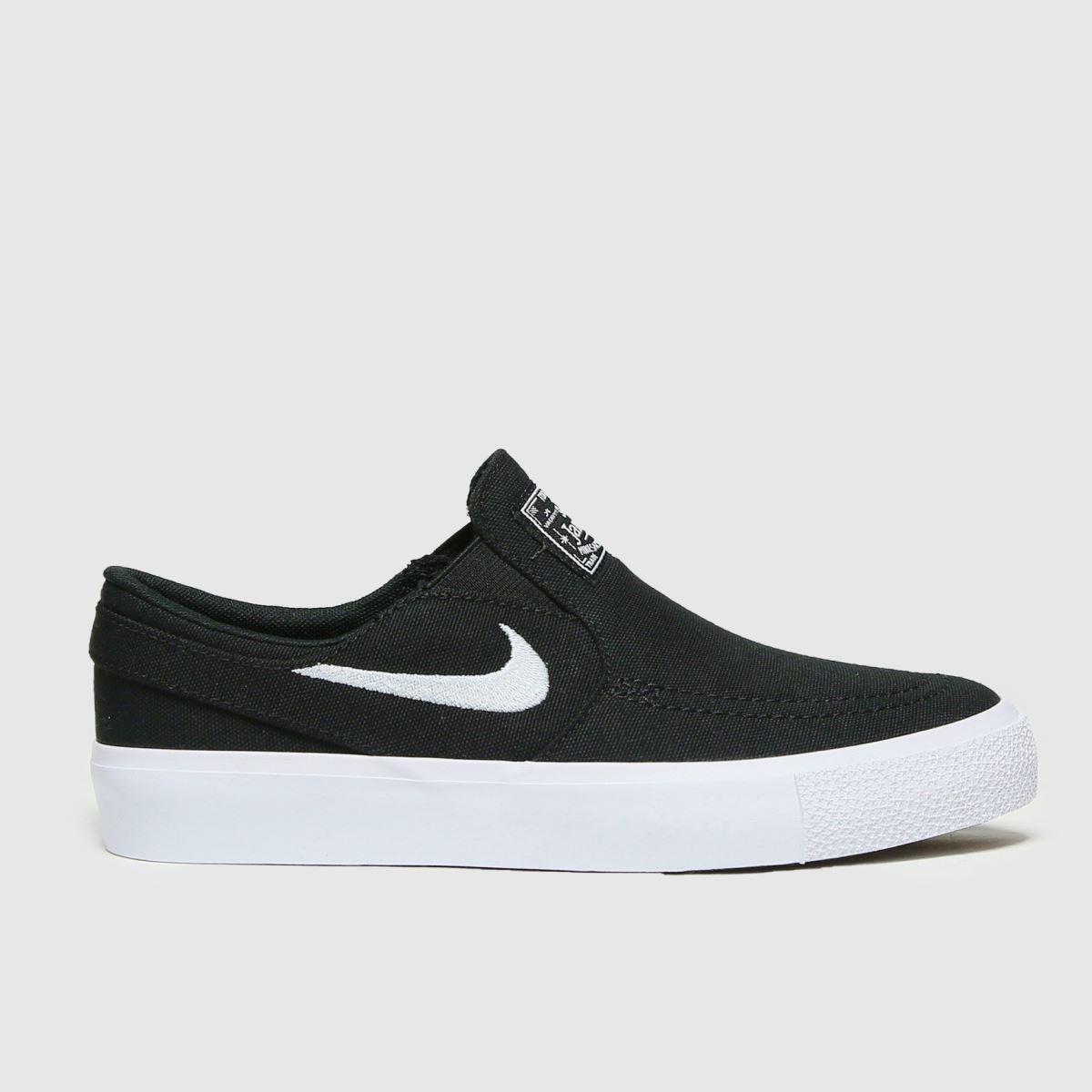 Nike SB Nike SB Black & White Stefan Janoski Slip Trainers Youth