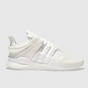 ADIDAS WHITE EQT SUPPORT ADV YOUTH TRAINERS
