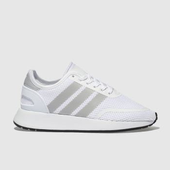 Adidas White & grey N-5923 Unisex Youth
