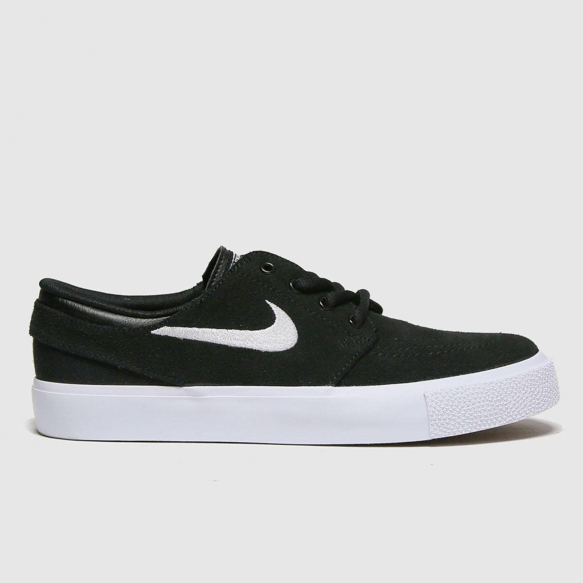 Nike SB Nike SB Black & White Stefan Janoski Trainers Youth