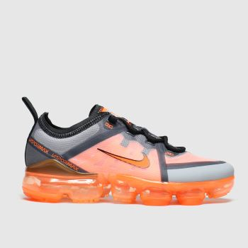 Nike Black & Orange Air Vapormax 2019 Unisex Youth