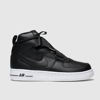 Nike Black Air Force 1 Highness Unisex Youth