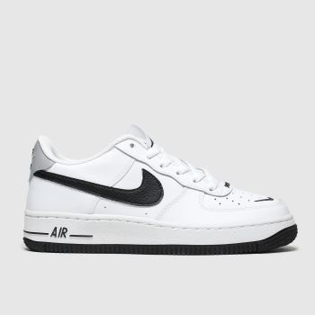 Nike White & Black Air Force 1 Lv8 Unisex Youth