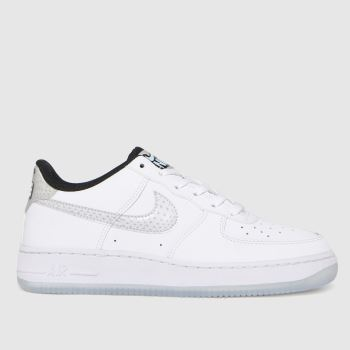 Nike White & Silver Air Force 1 Lv8 Unisex Youth
