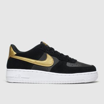 Nike Black & Gold Air Force 1 Lv8 Unisex Youth