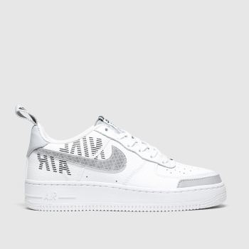 Nike White & grey Air Force 1 Lv8 2 Unisex Youth