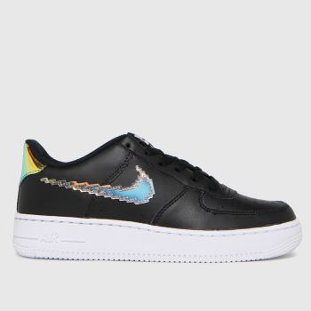 Nike Black & Orange Air Force 1 Lv8 Unisex Youth
