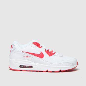 Nike White & Red Air Max 90 Ltr Unisex Youth