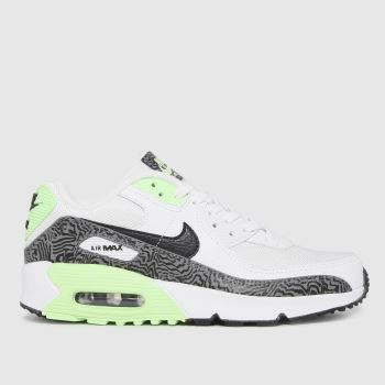 Nike White & Green Air Max 90 Unisex Youth