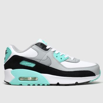 Nike White & grey Air Max 90 Ltr c2namevalue::Unisex Youth#promobundlepennant::€5 OFF BAGS