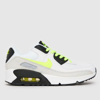 Nike White & Yellow Air Max 90 Ltr Unisex Youth