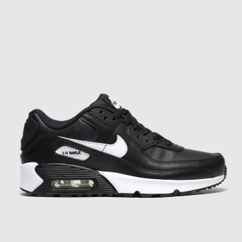 Nike Black & White Air Max 90 Ltr c2namevalue::Unisex Youth#promobundlepennant::€5 OFF BAGS