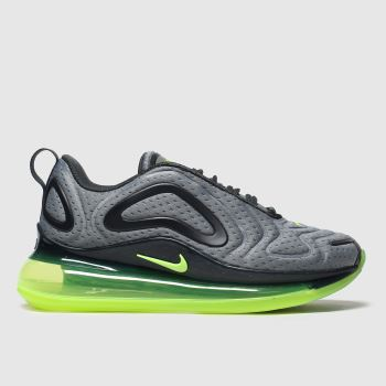 Nike Grey & Lime Air Max 720 Unisex Youth#