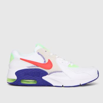 Nike White & Purple Air Max Excee Unisex Youth