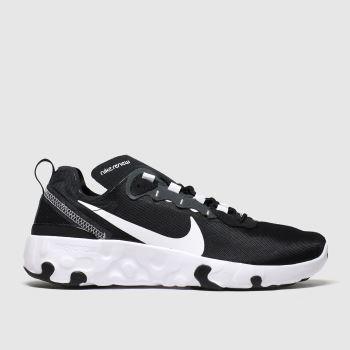 Nike Black & White Renew Element 55 Unisex Youth#