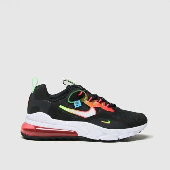 Nike Black & Red Air Max 270 React Unisex Youth