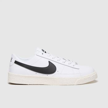 Nike White & Black Blazer Low Unisex Youth#