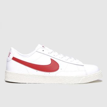 Nike White & Red Blazer Low Unisex Youth#