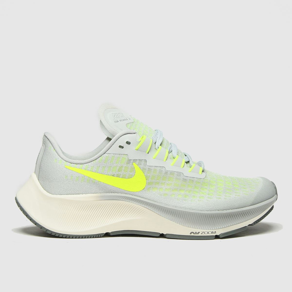Nike Nike Grey & Lime Air Zoom Pegasus 37 Trainers Youth