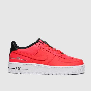 Nike Red Air Force 1 Lv8 3 Unisex Youth#