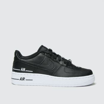 Nike Black & White Air Force 1 Lv8 3 Unisex Youth