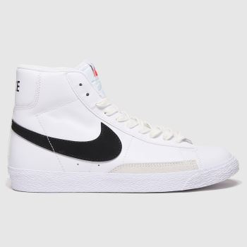 Nike White & Black Blazer Mid Unisex Youth#
