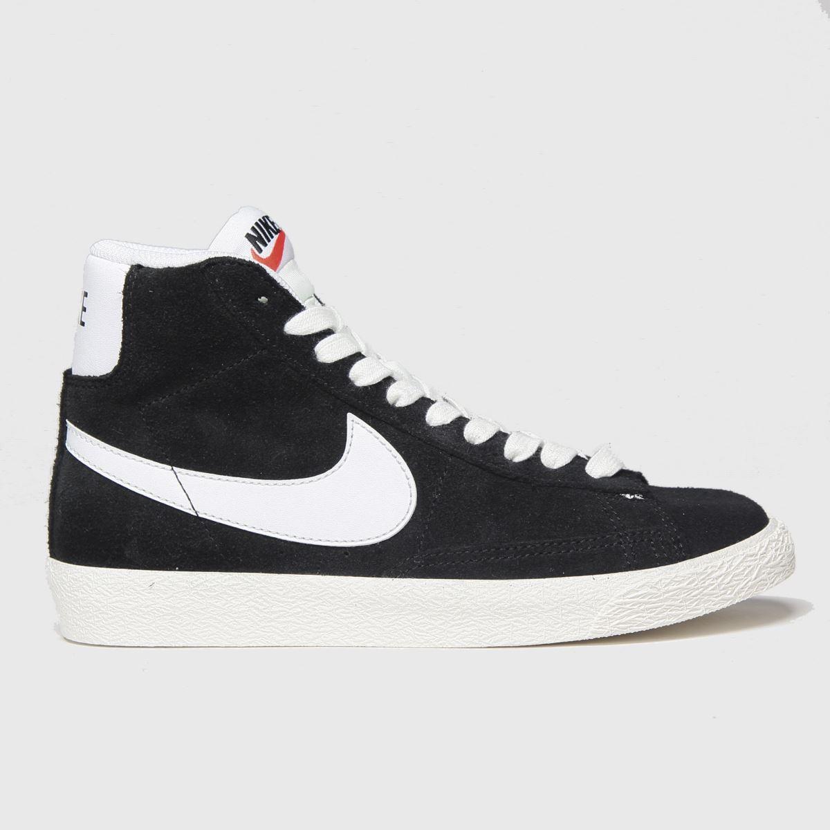Nike Nike Black & White Blazer Mid Trainers Youth
