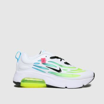 Nike white & yellow air max exosense se trainers youth