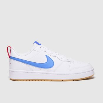 Nike White & Blue Court Borough Low Unisex Youth