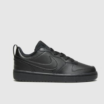 Nike Black Court Borough Low 2 Unisex Youth#