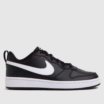 Nike Black & White Court Borough Low 2 Unisex Youth