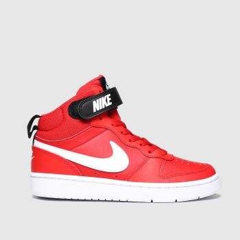 Nike Red Court Borough Mid 2 c2namevalue::Unisex Youth