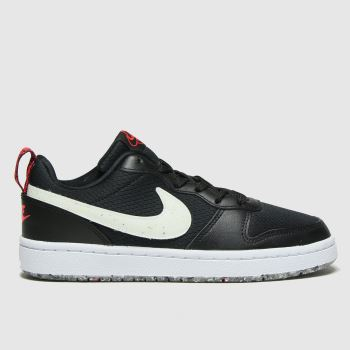 Nike Black & White Court Borough Low 2 Unisex Youth