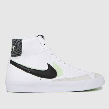 Nike White & Black Blazer Mid 77 Se Unisex Youth