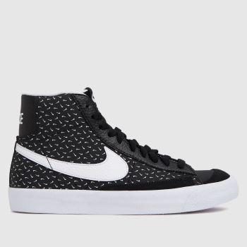 Nike Black & White Blazer Mid Unisex Youth