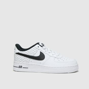 Nike White & Black Air Force 1 07 Unisex Youth