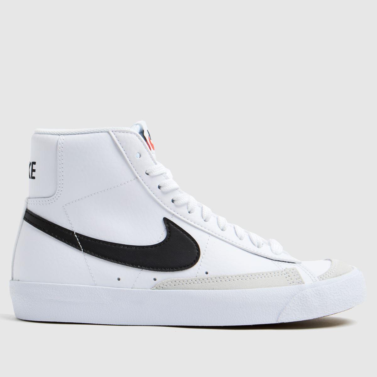 Nike Nike White & Black Blazer Mid 77 Trainers Youth