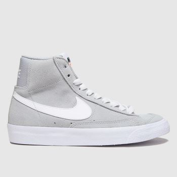 Nike Light Grey Blazer Mid 77 Unisex Youth