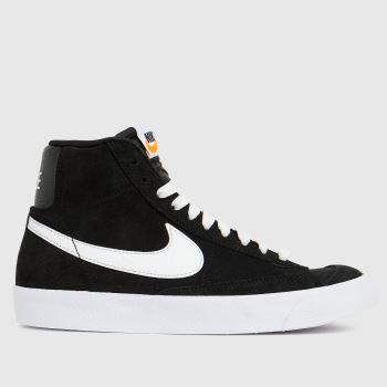 Nike Black & White Blazer Mid 77 Unisex Youth