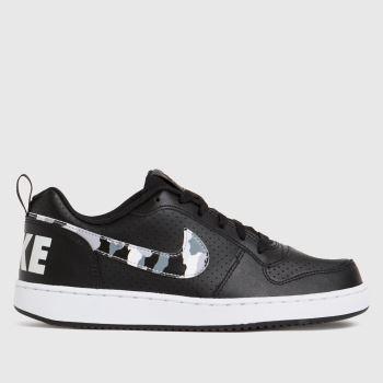 Nike Black & White Court Borough Low Unisex Youth