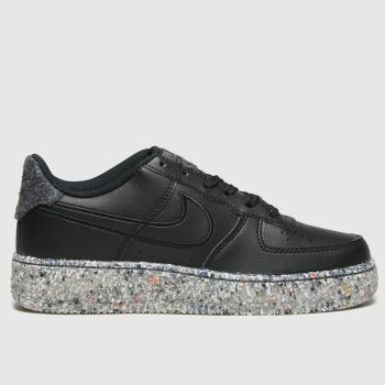 Nike Black & Silver Air Force 1 M2z Unisex Youth