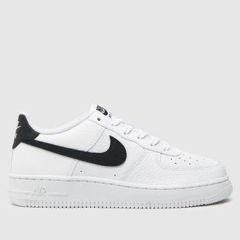 Nike White & Black Air Force 1 Unisex Youth