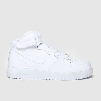 Nike White Air Force 1 Mid Unisex Youth