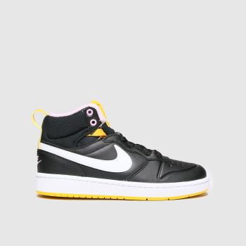 Nike Black & White Court Borough Mid 2 Unisex Youth