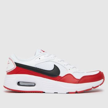 Nike White & Red Air Max Sc Unisex Youth
