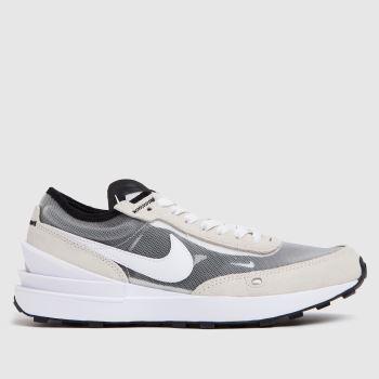 Nike White & grey Waffle One Unisex Youth